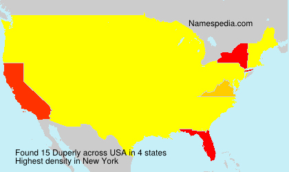 Surname Duperly in USA