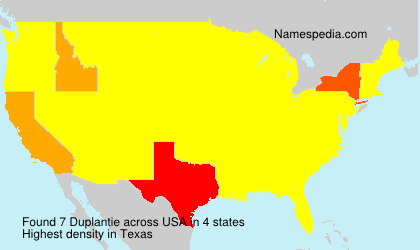 Surname Duplantie in USA