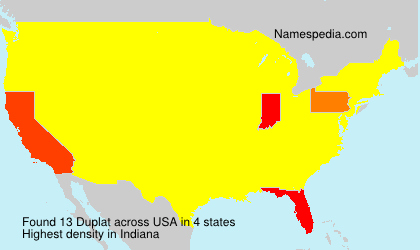 Surname Duplat in USA