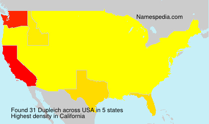 Familiennamen Dupleich - USA