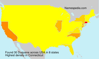 Surname Duquene in USA
