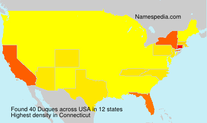 Surname Duques in USA