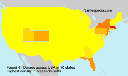 Surname Duraes in USA