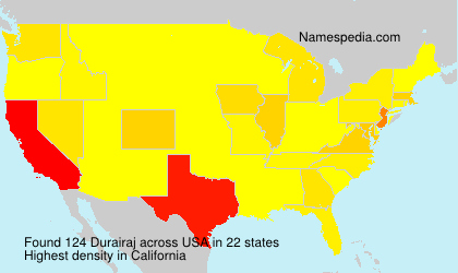 Surname Durairaj in USA