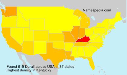 Familiennamen Durall - USA