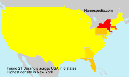 Surname Durandis in USA