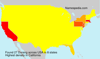 Surname Durang in USA