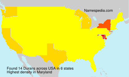 Surname Durans in USA