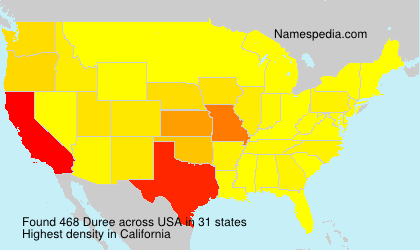 Surname Duree in USA