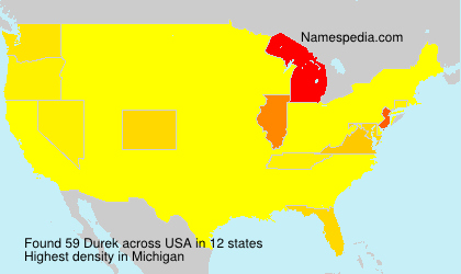 Surname Durek in USA