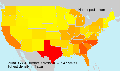 Surname Durham in USA