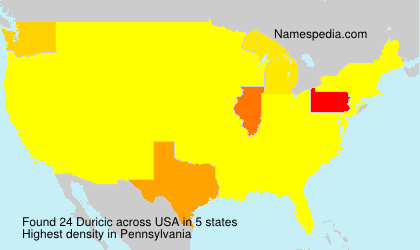 Surname Duricic in USA