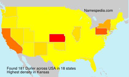 Surname Durler in USA