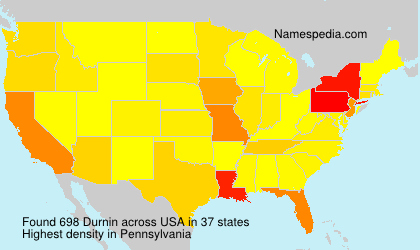 Surname Durnin in USA