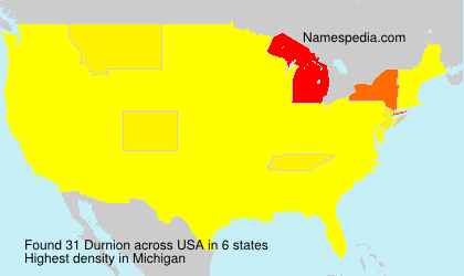 Surname Durnion in USA