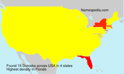 Surname Duroska in USA