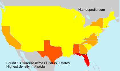 Surname Duroure in USA