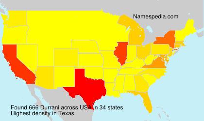 Surname Durrani in USA