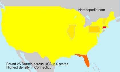 Surname Durstin in USA