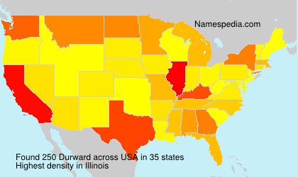 Familiennamen Durward - USA