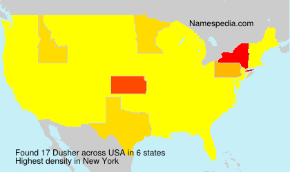 Surname Dusher in USA