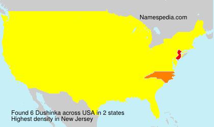 Familiennamen Dushinka - USA