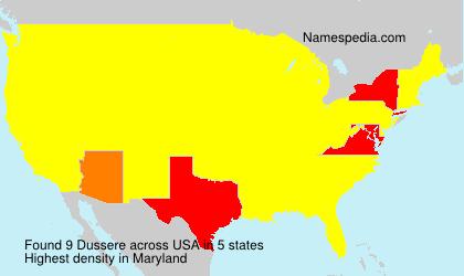 Familiennamen Dussere - USA