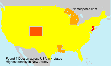 Surname Dusson in USA