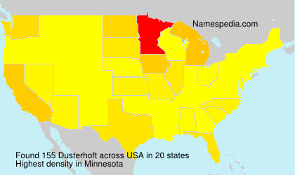 Surname Dusterhoft in USA