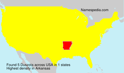 Surname Duszota in USA