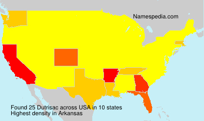 Surname Dutrisac in USA