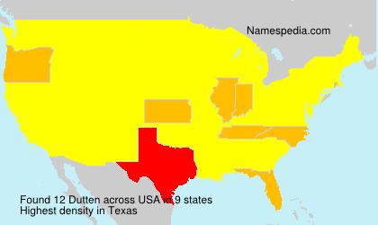 Surname Dutten in USA
