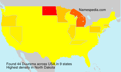 Surname Duursma in USA