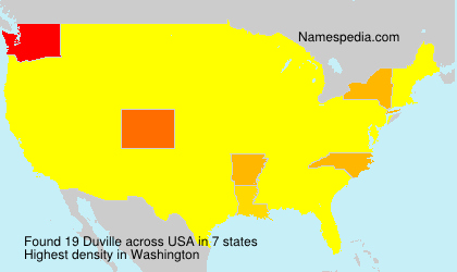 Surname Duville in USA