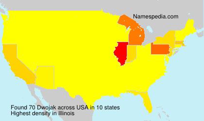 Familiennamen Dwojak - USA