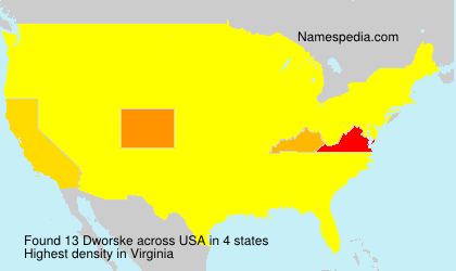 Surname Dworske in USA