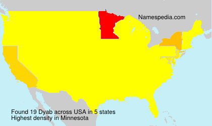 Surname Dyab in USA