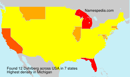 Surname Dyhrberg in USA