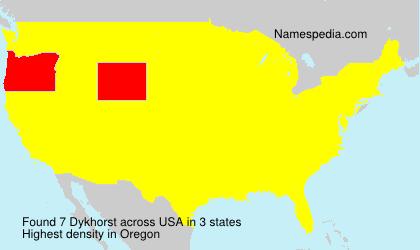 Surname Dykhorst in USA