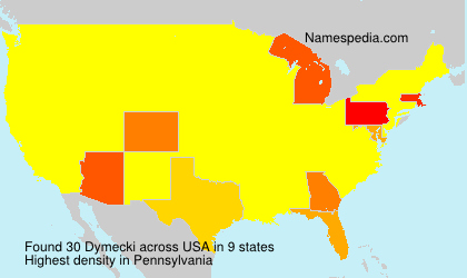 Surname Dymecki in USA