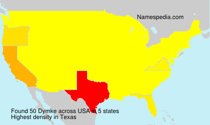 Surname Dymke in USA