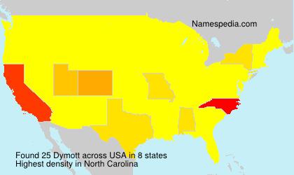Surname Dymott in USA