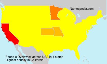 Surname Dyniewicz in USA