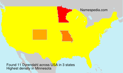 Surname Dyrendahl in USA