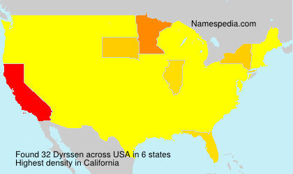 Surname Dyrssen in USA