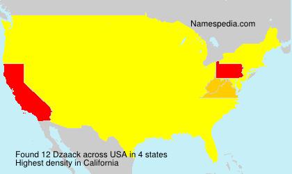 Surname Dzaack in USA