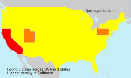Surname Dzaja in USA