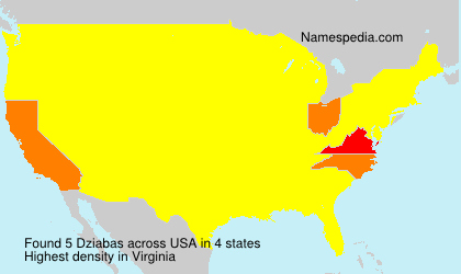 Surname Dziabas in USA
