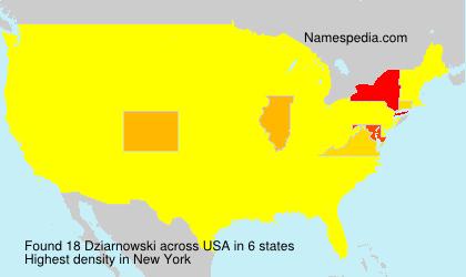 Surname Dziarnowski in USA