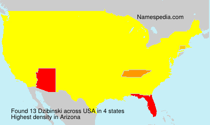 Surname Dzibinski in USA